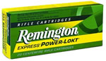 Remington Centerfire Rifle Cartridges R222R3, 222 Remington, Power-Lokt Hollow Point, 50 GR, 3140 fps, 20 Rd/bx