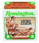 Remington Sport Loads R20SL8, 20 Gauge, 2 3/4 in, 7/8 oz, 1225 fps, #8 Lead Shot, 25 Rd/bx, Case of 10 Boxes