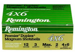 Remington Premier Duplex Magnum MP12S46, 12 Gauge, 2 3/4 in, 1 1/2 oz, 1260 fps, #4X6 Copper Plated Lead Shot, 10 Rd/bx