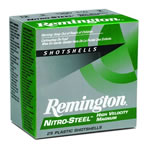 Remington Nitro Steel Magnum NS12M4, 12 Gauge, 3 in, 1 1/4 oz, 1450 fps, #4 Steel Shot, 25 Rd/bx, Case of 10 Boxes