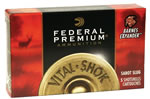Federal Premium Vital Shok P151XS, 12 Gauge, 3 in, 1 oz, 1530 fps, Barnes X Hollow Point Copper Sabot Slug, 5 Rd/bx