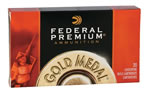 Federal Premium Gold Medal Ammunition GM308M, 308 Winchester, Boat Tail Hollow Point, 168 GR, 2650 fps, 20 Rd/bx