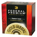 Federal Premium Gold Medal Plastic Target T2068, 20 Gauge, 2 3/4 in, 7/8 oz, 1200 fps, #8 Lead Shot, 25 Rd/bx, Case of 10 Boxes