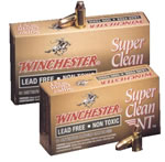 Winchester Super Clean NT Centerfire Handgun Ammunition SC38NT, 38 Special, Jacketed Flat Point, 110 GR, 975 fps, 50 Rd/bx