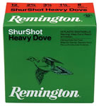 Remington Shurshot Heavy Dove Loads RHD206, 20 Gauge, 2 3/4 in, 1 oz, 1165 fps, #6 Lead Shot, 25 Rd/bx, Case of 10 Boxes