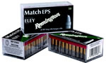 Remington Eley Match Rimfire Ammunition RE22EPS, 22 Long Rifle, Lead Flat Nose, 40 GR, 1085 fps, 50 Rd/Box