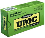 Remington UMC Leadless Handgun Ammunition LL40SW5, 40 S&W, Flat Nose Enclosed Base, 180 GR, 985 fps, 50 Rd/bx