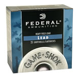 Federal Premium Game Shok Heavy Field H2026, 20 Gauge, 2 3/4 in, 1 oz, 1165 fps, #6 Lead Shot, 25 Rd/bx, Case of 10 Boxes