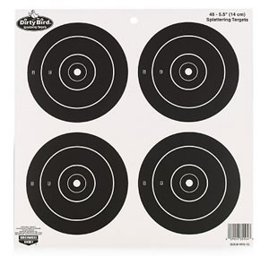 Birchwood Casey 35504 5.5 in Dirty Bird Targets 12 Pack