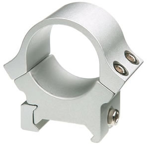 B-Square Sports Utility Series Rings 20055, Standard Dovetail, Medium, 1 in, Silver