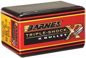 Barnes 37556 All Copper Triple-Shock X Bullet 375 Cal 270 Grain Flat Base 50/Box, (Not Loaded)