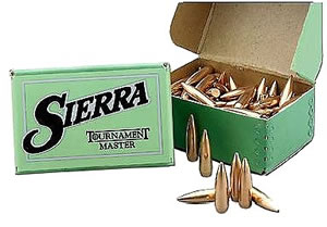 Sierra 2610 GameKing 338 Cal 215 Grain Boat Tail Spitzer 50/Box, (Not Loaded)