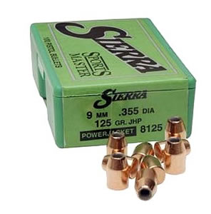Sierra 8030 Sports Master Bullets 32 Cal 90 Grain Jacketed Hollow Cavity 100/Box, (Not Loaded)