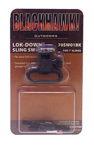 BlackHawk 1 in Blue Lock Down Sling Swivels For Remington Model 7400/4 Autolo 70SW03BK