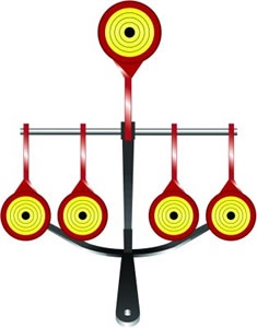 Do All SS7022 Sharpshooter Target .22 Caliber 3 Target Spinner