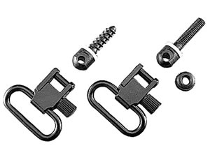 Uncle Mikes 1 in Black Quick Detach Sling Swivels For Bolt Action Rifles 13112