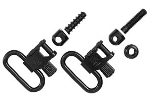 Uncle Mikes 1 in Quick Detach Sling Swivels For Single Barrel 12 Gauge Shotgu 15922