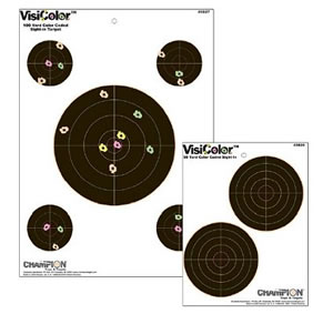 Champion 45826 5 in Visicolor Paper Double Bull Target 10 Pack