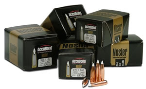 Nosler 54825 AccuBond 30 Cal 180 Grain Spitzer 50/Box, (Not Loaded)