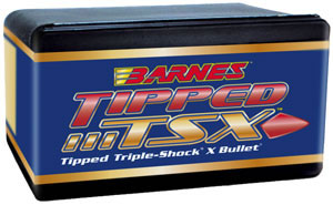Barnes 33879  .338 Cal 225 Grain Tipped Triple Shock Boattail 50/Box, (Not Loaded)