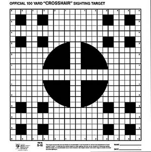 Hoppes S10 100 Yard Multiple Crosshair Sighting In Targets 20 Pack