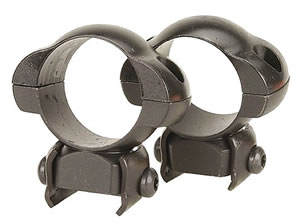 Redfield High Weaver Style Steel Rings 47247, High, 1 in, Matte Black