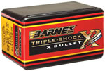 Barnes 30848 All Copper Triple-Shock X Bullet 30 Cal 200 Grain Flat Base 50/Box, (Not Loaded)