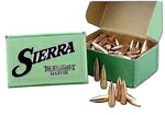 Sierra 1625 GameKing 25 Cal 100 Grain Boat Tail Spitzer 100/Box, (Not Loaded)