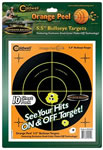 Caldwell 550010 Orange Peel Bullseye Targets 10 Sheets