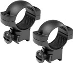 Barska AI10342 22 Scope Ring - Matte Black