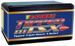 Barnes 33873  .338 Cal 160 Grain Tipped Triple Shock Flat Base 50/Box, (Not Loaded)