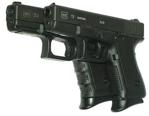 Pearce PG19 Black Grip Extension For Glock Mid Size/Full Size