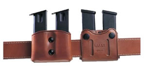Galco DMC28H Havana Brown Double Magazine Case