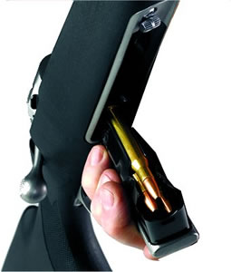 Savage 55115 4 Round Blue Detachable Box Magazine For Long Action Magnum Calibers