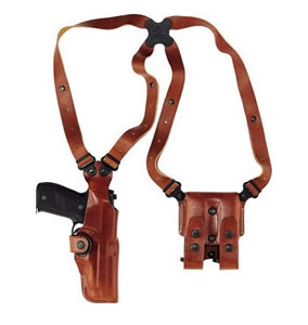 Galco VHS248 Vertical Shoulder Holster System For Sig P220/P226, Tan