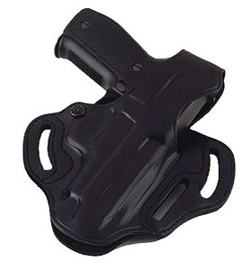 Galco CTS226B Cop 3-Slot Belt Holster w/Reinforced Thumb Break For Glock Model 19/23/32