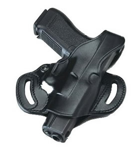 Galco CSL224B Cop 3-Slot Belt Holster w/Open Muzzle For Glock Model 17/22/31