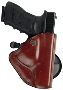 Bianchi Paddle Lok High Ride Holster, Tan, Model 23206, For Glock 19, 23, 36