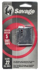 Savage 90001 5 Round Blue Magazine For 90 Series 22 Magnum / 17 HMR