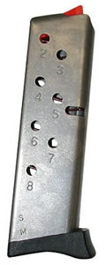 S&W 190700000 8 Round Stainless Curved Magazine For 3913 / 3914 / 3908 9MM