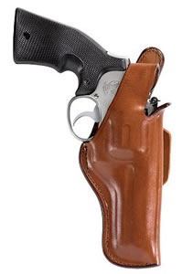 Bianchi Thumbsnap Holster w/Closed Muzzle, Model 10168, For 2 1/2 in BBL; S&W & Similar K Frame models 2 1/2 in ; Taurus 617T, 415T, 445T,