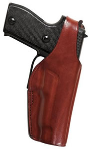 Bianchi Thumbsnap Left Hand Snap Holster w/Open Muzzle, Black, Model 17635, For 9mm/.45 Auto, BRN HP; Colt Delta, Gold, Gov; LLama IXA, Para Ord P14, P16, Springfield 1911-A1
