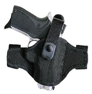 Bianchi AccuMold High Ride Belt Slide Holster w/Thumbstrap, Model 17858, For S&W 4513TS&W, 4563TS&W, Square trigger guard with rails.
