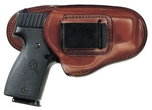 Bianchi Professional Holster w/High Back, Model 19232, For Glock 26, 27; S&W CS9; Taurus PT111, PT140, PT145.