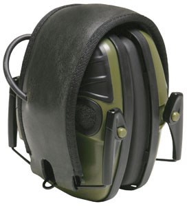 Howard Leight R01526 Impact Electronic Sport Earmuffs w/Black & Green Finish, NRR 23 dB