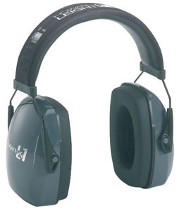 Howard Leight R01524 L1 Electronic Hearing Protection Earmuffs, NRR 25 dB, Black/Blue
