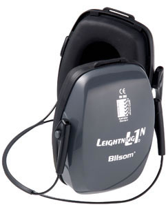 Howard Leight 1011994 L1N Neckband Electronic Hearing Protection Earmuffs, NRR 25 dB, Black/Blue