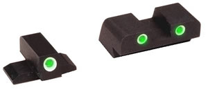 Ameriglo XD191 Green Front/Rear Tritium Night Sight For Springfield XD