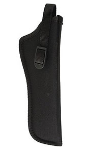 Uncle Mikes Hip Holster Fits 5 in -6.5 in Barrel .22 Autos & Airguns, Left Hand, Black, Model 81062