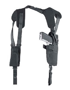 Uncle Mikes Pro-Pak Vertical Shoulder Holster System, Model 75011, For 3-4 in Barrel Med Autos AND 3 1/4 in -3 3/4 in